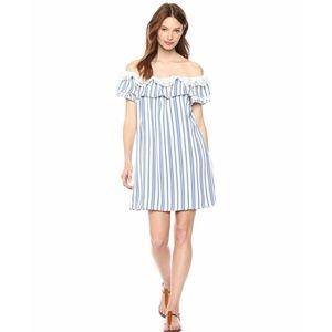 Misa Women's Medium Blue Stripe Carina Dress